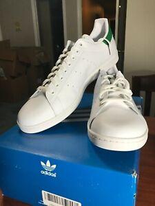 Adidas Stan Smith White/Core Green Tennis shoes BNIB Size 18 | eBay