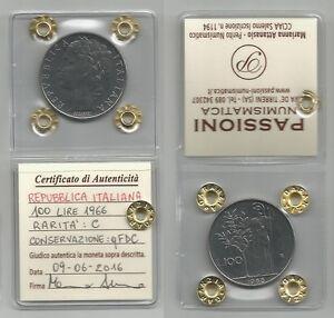 ITALIA-REPUBBLICA-100-Lire-1966-qFDC-periziata-4