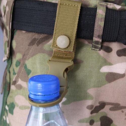 5x US Tactical MOLLE Webbing Strap Clip Water Drink Bottle Holder Hook Belt