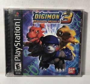 Digimon-World-3-Sony-PlayStation-1-2002-PS1-Case-Manual-Only-No-Game