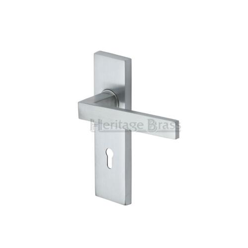 Delta Lever Door Handle on Concealed Backplate Various Finishes Available