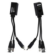 1 Pair 3 in 1 Plug BNC Male to RJ45 Audio Video Power Balun Transceiver LW