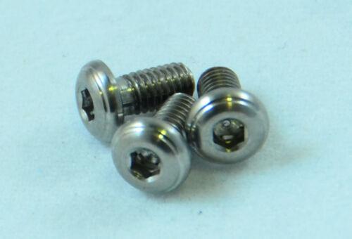 Five 5 Titanium Alloy Grade 5 M3x0.5 6mm Button Head Socket Cap Screws