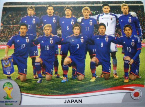 Panini 242 Team JFA Japan FIFA WM 2014 Brasilien