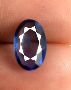 Oval Blue Sapphire Natural Gemstone 2.60 Ct AGI Certified A18386 Discounted Sale