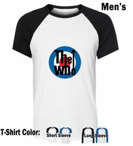 Cartoon-The-Who-MODS-Pattern-Print-T-Shirts-Mens-Boys-Graphic-Tee-Shirts-Tops