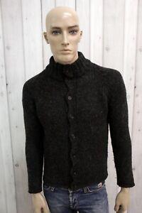 DOLCE-amp-GABBANA-Maglione-Uomo-Taglia-M-Nero-Lana-Casual-Cardigan-Pullover-Sweater