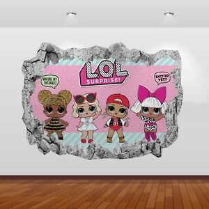 Lol dolls surprise graphic 3d smashed wall stickers poster decal mural art 809 ebay - Decoration adhesif mural ...
