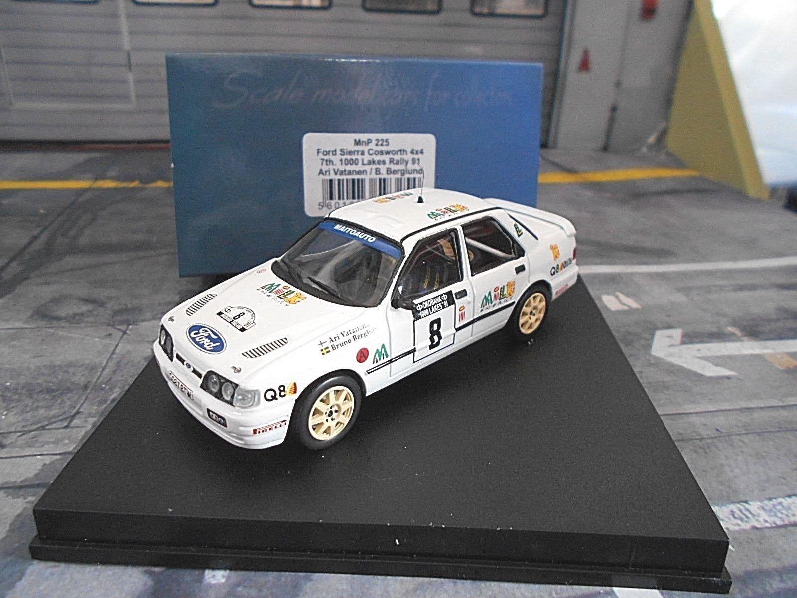 Ford Sierra Cosworth 4x4 1000 Lakes Rallye Finlande  8 VATANEN 1991 Trofeu 1 43