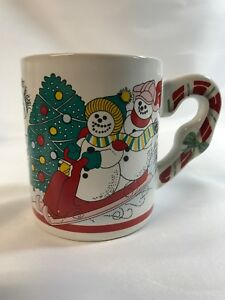 Wang-039-s-International-Christmas-Snowmen-Coffee-Cup-with-Candy-Cane-Handle