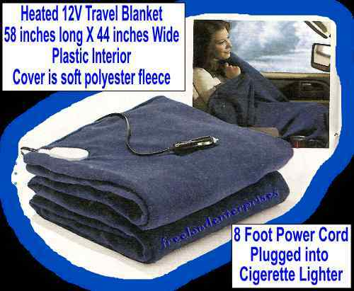 Travel Blanket Heated 12V   Use 4 RVing & Camping NEW