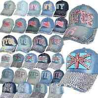 CAP Kappe Mütze Jeans Cap Basecap Schirmmütze TRUCKER KAPPE STRASS STEINEN niete
