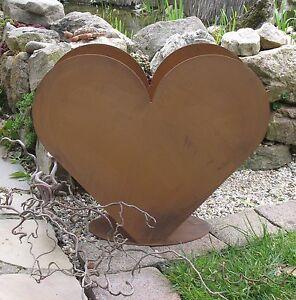 Herz-aus-Metall-zum-Bepflanzen-Edel-Rost-Garten-STABIL-GROSS