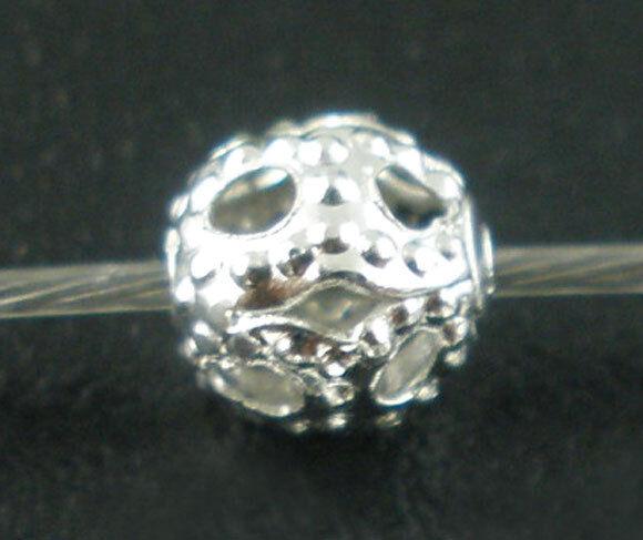 500 Perles intercalaires Filigrane Pour Bracelet Bijoux Accessoire 4mm Dia.