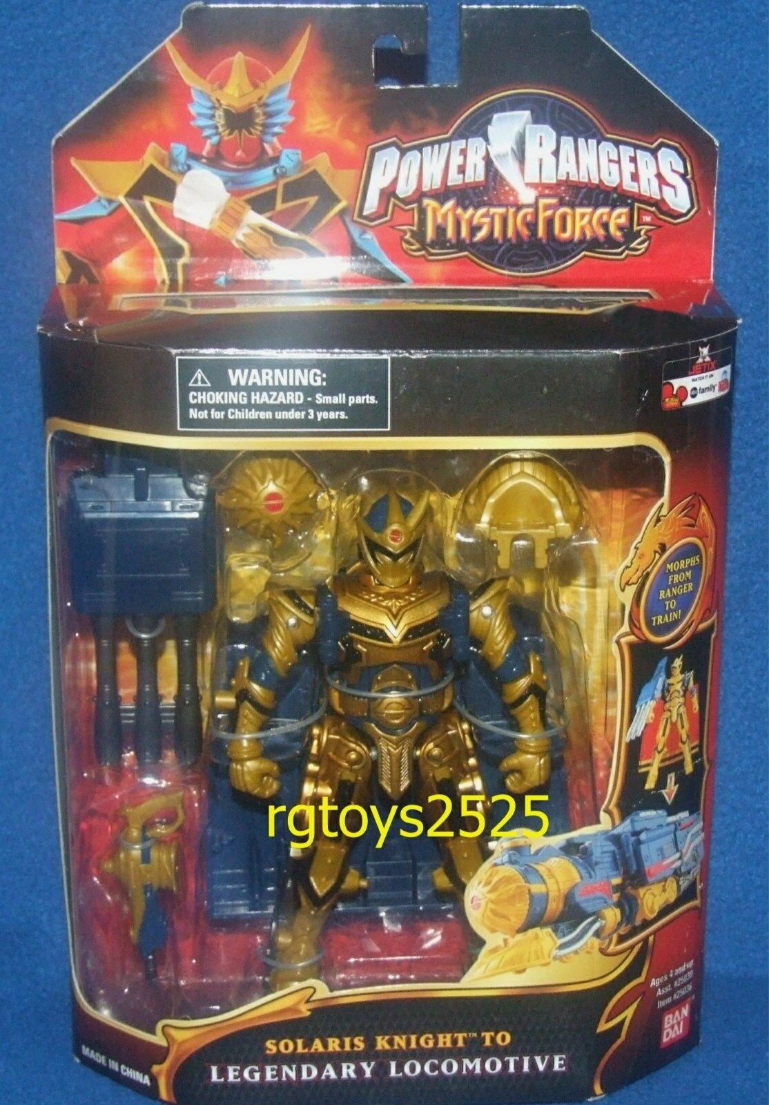 precio mas barato Power Rangers Mystic Mystic Mystic Force Solaris Knight a legendario Locomotora Nuevo 2005  Ven a elegir tu propio estilo deportivo.