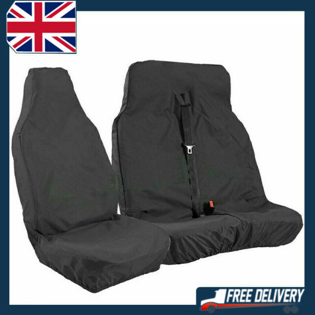 2 HEAVY DUTY WATERPROOF FRONT SEAT COVERS FOR FORD TRANSIT TRANSIT CUSTOM VAN