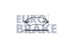 Eurobrake 5502221960 Bremsbelagsatz Scheibenbremse