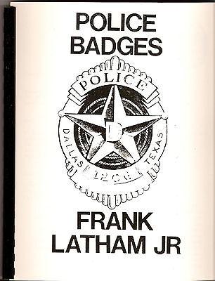 PHILADELPHIA POLICE CHRONOLOGY OF BADGES Booklet by LUCAS