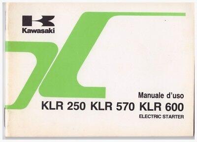 Accurato Libretto Manuale Uso E Manutenzione Kawasaki Klr250 - Klr570 - Klr600 A.e. 1988