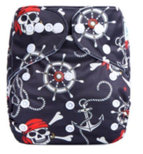 Brand New MCN Modern Cloth Nappy Microfibre insert – Pirates /& Anchors