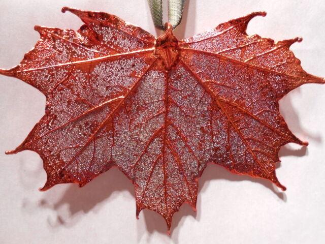 Real Leaf Metal Filigree Ornament - Sugar Maple Leaf