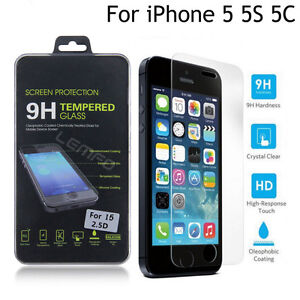 Film-de-protection-d-039-ecran-en-verre-trempe-Premium-pour-Apple-iPhone-5S-SE