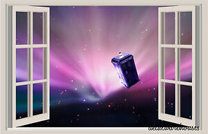 Dr Who Tardis in Space Window View Color Wall Sticker Wall Mural eBay
