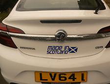 Made In Scotland Car Sticker