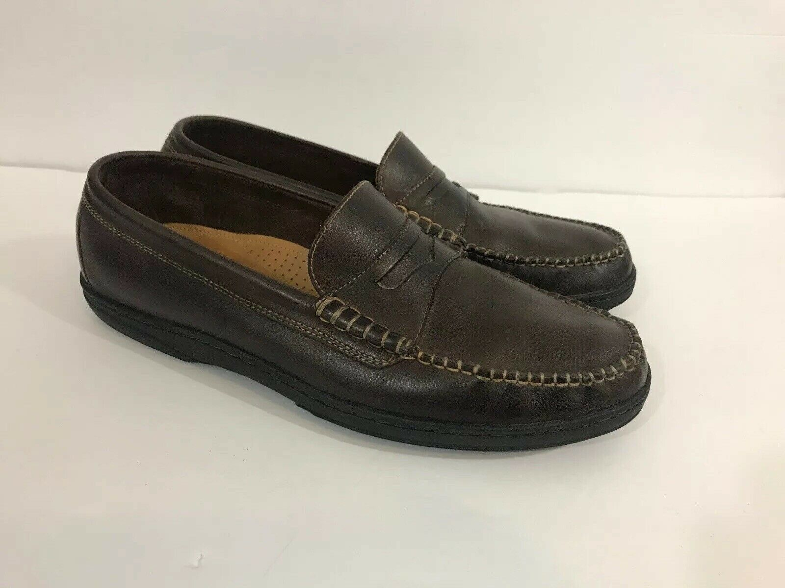 5355de1321b COLE HAAN Mens Size 9 French Cup Penny Loafer C07638 French Roast. Eddie  Bauer brown leather penny loafers Mens casual loafers shoes ...