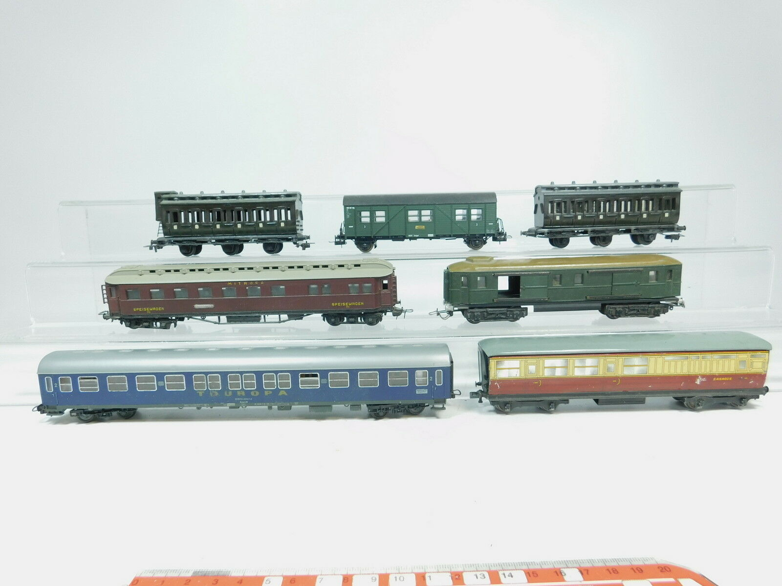 Az388-2x h0 dc Hobbyists Passenger Cars etc  45402+772+ Touropa etc, 1x Hornby