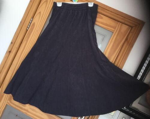 Grape Suede Skirt by Special Collection 16 Panelled//Flared Skirt 12 size