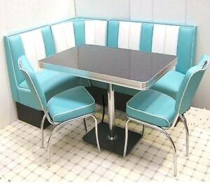 Retro Furniture 50s American Diner Restaurant Kitchen Corner Booth Set 130 X 180 Ebay