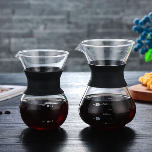 Heat-Resistant Glass Coffee Pot Hand Drip Pot Filter Cafe Maker Sharing Pot