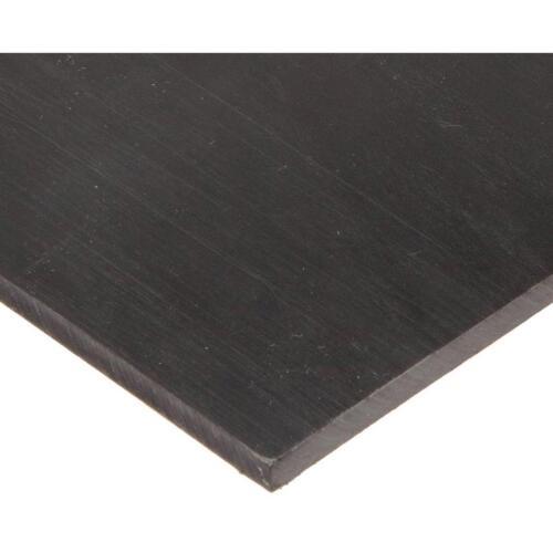 US Stock 2pcs 3mm x 200mm x 200mm Black UHMW Plastic Sheet Plate