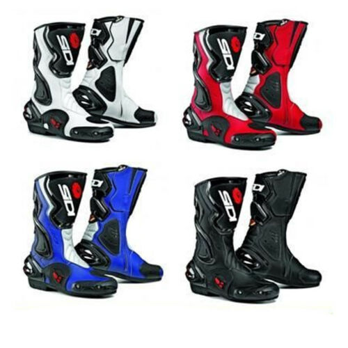 Sidi Cobra Leather Motorcycle Motorbike Sport Race Vented Boots Black
