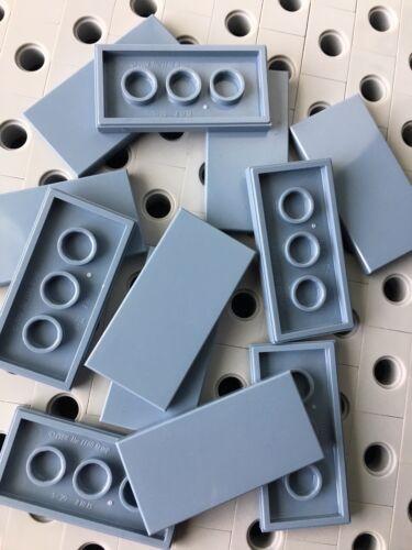 Lego Flat Tiles Sand Blue 2x4 Smooth Finishing Tile MODULAR New Lot Of 12