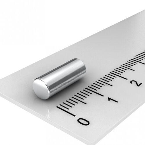 KÜHLSCHRANK 20x NEODYM STAB MAGNET N45 PINNWAND 5x13 mm MAGNETE BASTEL