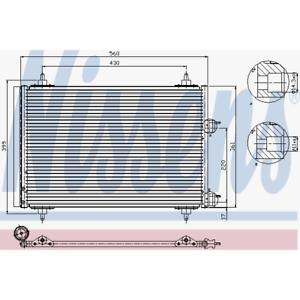Condensateur climatisation-NISSENS 94570