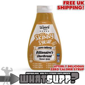 SKINNY SYRUP Zero Calorie Billionaire's Shortbread Syrup VEGAN Gluten/Sugar Free