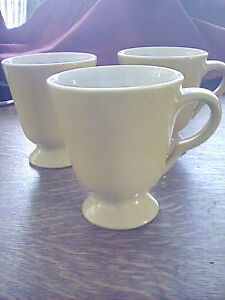 Lot Of 3 Sterling Vitrified China East Liverpool Ohio Pedestal Mugs