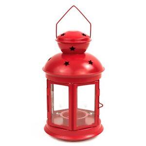 IKEA-VINTERFEST-ROTERA-Laterne-21cm-Kerzenhalter-Teelichter-Teelichthalter-rosa