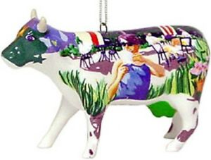 Cow-Parade-2002-IT-039-S-A-COWPUCCINO-MORNING-ORNAMENT-7092-New-amp-Hard-to-Find