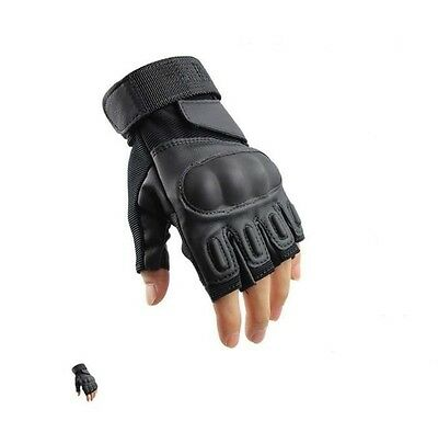 Outdoor Sports Fingerless Military Tactical Airsoft Hunting Cycling Armor Gloves