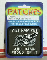 Military Viet Nam Vietnam Vet And Damn Proud Of It Embroidered Patch 3x2.5