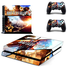 Sony PS4 Console and Controller Skins / Decal -- Battlefield I Design 2 (#0416)