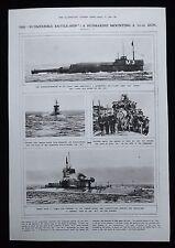 M3 M-CLASS SUBMARINE BRITISH ROYAL NAVY 1pp PHOTO ARTICLE 1920