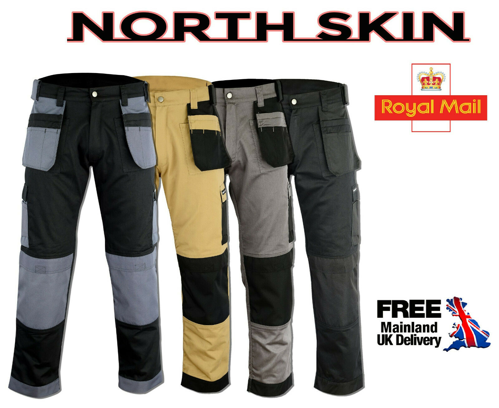 `Combat Cargo Trouser Multi Pockets Tools Holder Pouches Knee Pads Pockets Pant