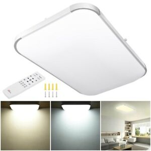 48W-Dimmable-LED-Flush-Mount-Ceiling-Light-Bathroom-Lamp-Home-Fixture-w-Remote