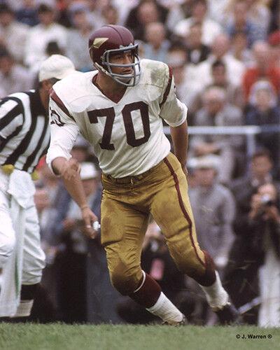 SAM HUFF 1965 WASHINGTON REDSKINS 8X10 PHOTO