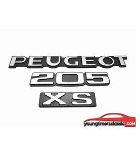 Kit-de-3-monogrammes-Peugeot-205-XS